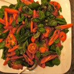 Tomato and basil salad, organically grown locally at Pannel Organics