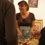 Maresa Bossano, host of Love Food Cafe, serves her delicious Celeriac, beetroot and apple salad